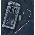 Лекало - шаблон  №4  акриловый.Шаг разметки 6мм для кроя сумок, кошельков и других издели