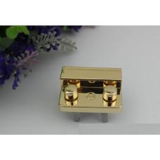 Замок для сумки с кнопками 4,4*3 см золото