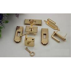 Набор фурнитуры для сумки Hermes Birkin 7 предметов золото