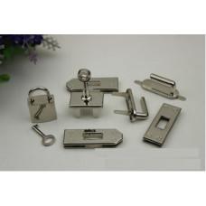 Набор фурнитуры для сумки Hermes Birkin 7 предметов серебро