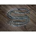 Цепочка-ручка для сумки  120 см 12мм цвет серебро с карабинами вес 70 грамм