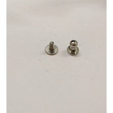 Винт кобурной ременной - Застежка для кошелька серебро 5 мм