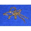 Цепочка-ручка для сумки  120 см 12мм цвет золото с карабинами