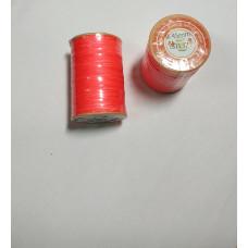 Нитка вощеная  для шитья по коже 0,45 мм 132 60м коралловый цвет  Dacron-waxed