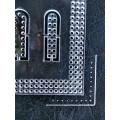 Лекало - шаблон  №1  акриловый.Шаг разметки 4мм для кроя сумок, кошельков и других издели