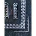 Лекало - шаблон  №3  акриловый.Шаг разметки 5мм для кроя сумок, кошельков и других издели
