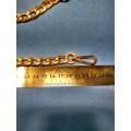 Цепочка-ручка для сумки  110 см звено 11*15мм цвет золото с карабинами вес 187гр.