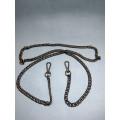 Цепочка-ручка для сумки  120 см двойное плетение 8мм цвет  черная  вес 87гр.