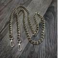 Цепочка-ручка для сумки  120 см звено 11*15мм цвет золото с карабинами вес 197гр.